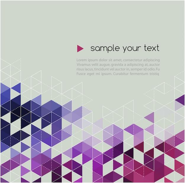 Abstracte technische achtergrond met driehoek