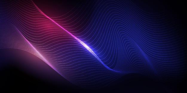 Abstracte technische achtergrond. particle mist-netwerk cyberbeveiliging