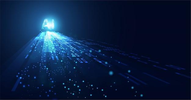 Abstracte technologie ai computing-werkgegevens van kunstmatige intelligentie