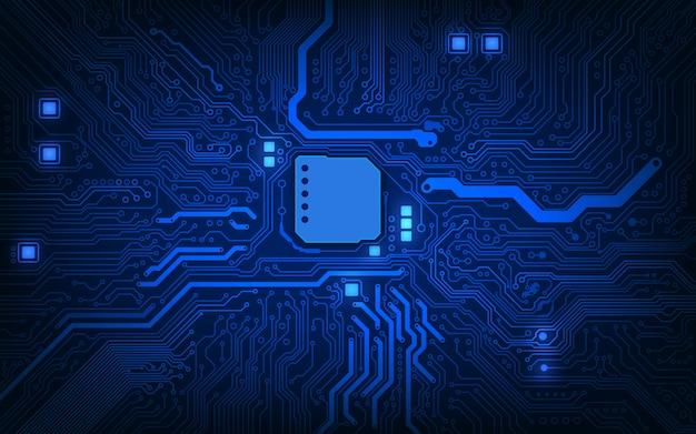 Abstracte technologie chip processor achtergrond printplaat en html code achtergrond