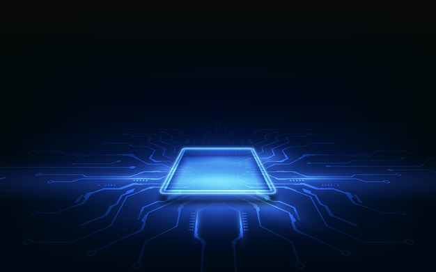 Abstracte technologie chip processor achtergrond printplaat