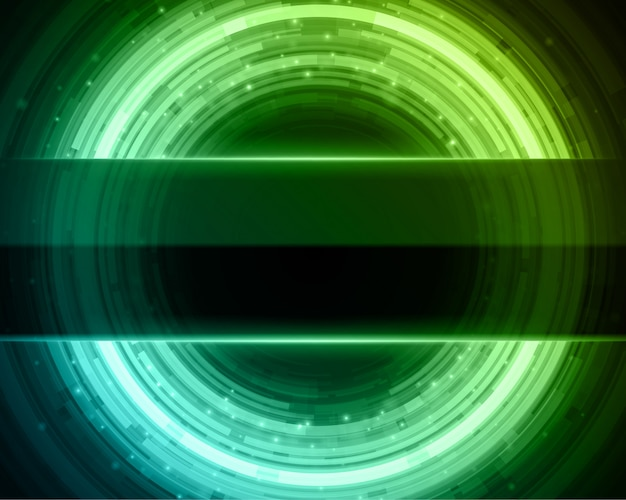 Abstracte technologie cirkels lijnen met licht sparkles digitale achtergrond.