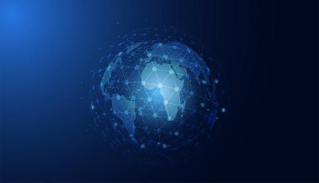 Abstracte technologie concept wereldwijde cirkel verbinding futuristische aarde