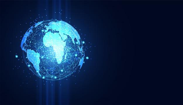 Abstracte technologie concept wereldwijde cirkel verbinding