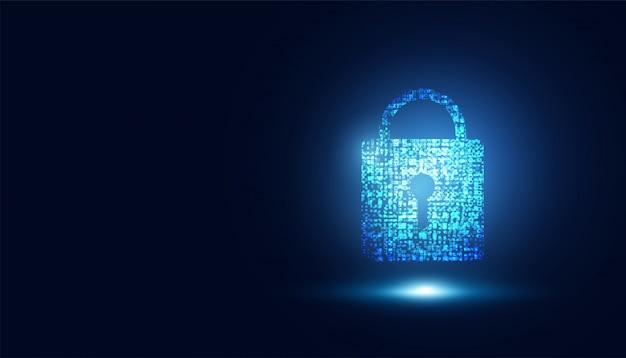 Abstracte technologie cyberbeveiliging veilige informatie privacy slot