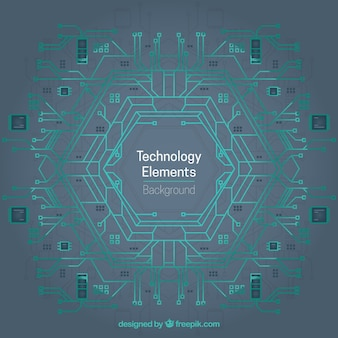 Abstracte technologie elementen achtergrond