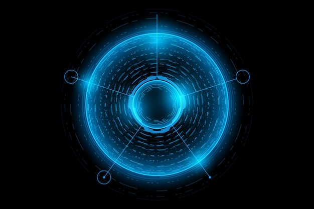 Abstracte technologie futuristische interface.element van digitale gebruikersinterface
