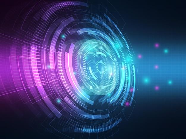 Abstracte technologie hi-tech gegevensoverdracht communicatie achtergrond illustratie