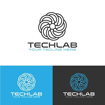 Abstracte technologie logo template