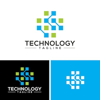Abstracte technologie logo vectoren