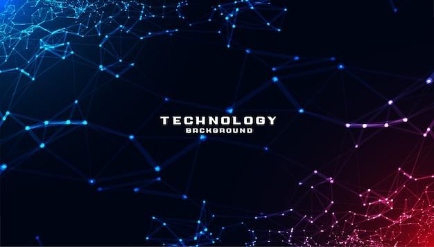 Abstracte technologie met laag poly mesh-diagram