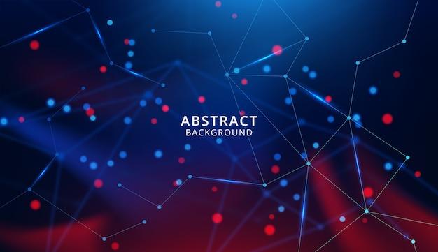 Abstracte technologie met verbindende punten en lijnen
