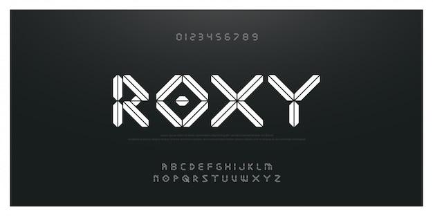 Abstracte technologie moderne lettertype