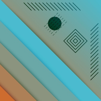 Abstracte technologie oranje turquoise gradiënt wallpaper achtergrond
