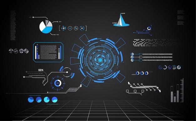Abstracte technologie ui futuristische hud interface