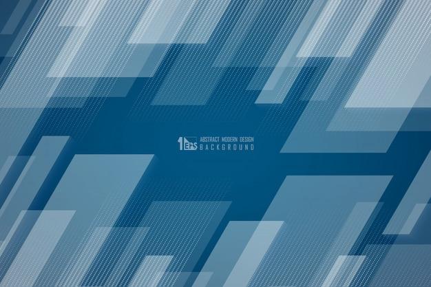 Abstracte technologie van vierkant technologie-patroonontwerp met halftone achtergrond van de lijndecoratie.