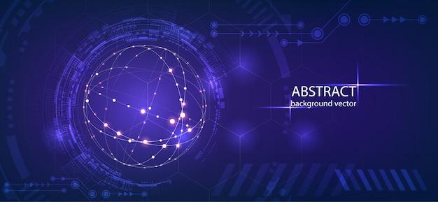 Abstracte technologie vectorachtergrond. voor zaken, wetenschap, technologieontwerp.