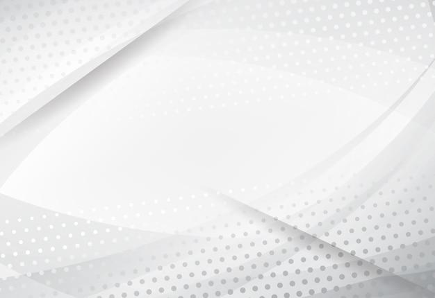 Abstracte technologie witte en grijze kleuren moderne halftone