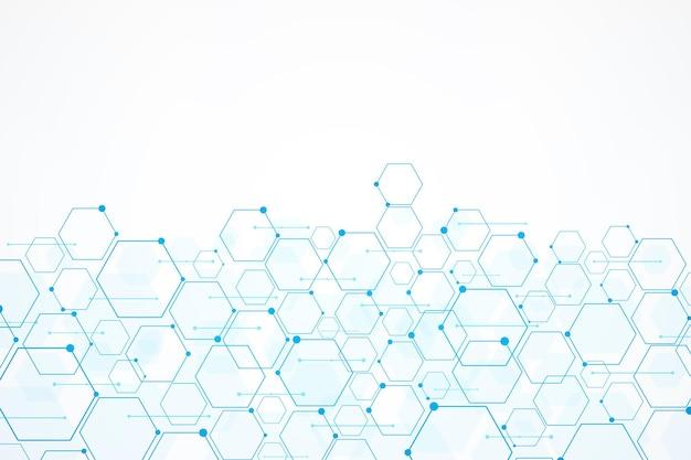 Abstracte technologie zeshoek achtergrond