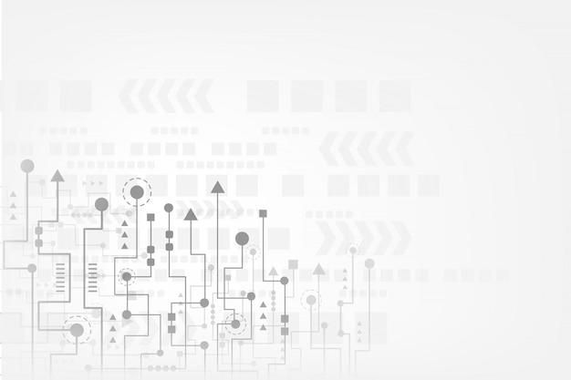 Abstracte technologieachtergrond met futuristische kringsraad