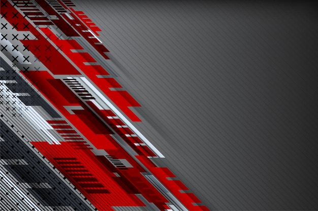 Abstracte technologieachtergrond met gestippelde geometrisch