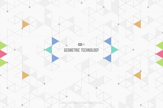 Abstracte technologiedriehoeken decoratief van bedrijfs minimaal ontwerp.