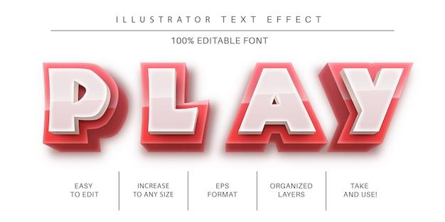 Abstracte teksteffect lettertypestijl