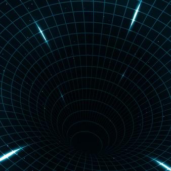 Abstracte teleportatie futuristische illustratie