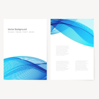 Abstracte template horizontale banner