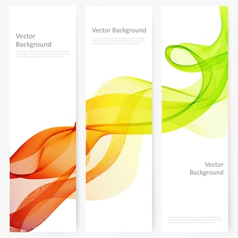 Abstracte template verticale banner