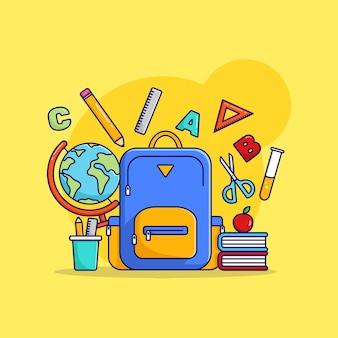 Abstracte terug naar school illustratie