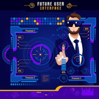 Abstracte toekomstige gebruikersinterface