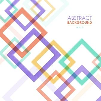 Abstracte transparante kleurrijke frames