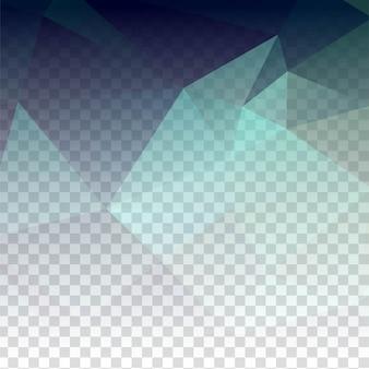 Abstracte transparante veelhoekige achtergrond