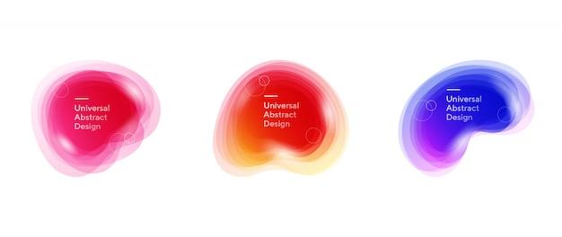 Abstracte transparante vloeiende vormen compositie