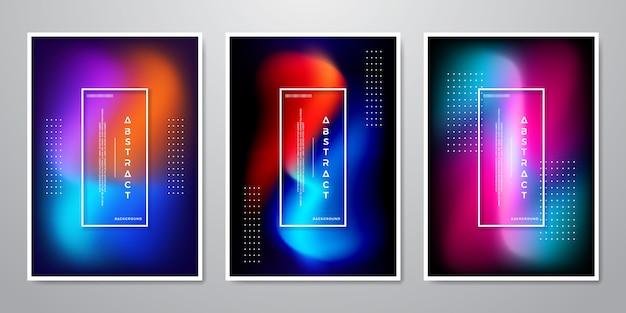 Abstracte trendy achtergrondontwerpinzameling