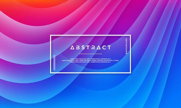 Abstracte trendy dynamische vectorachtergrond.