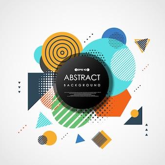 Abstracte trendy kleurrijke geometrische dekking.