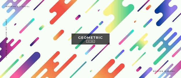 Abstracte trendy objecten geometrische gradiëntbanner