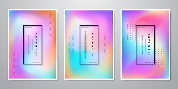 Abstracte trendy verloop vormen holografische achtergronden