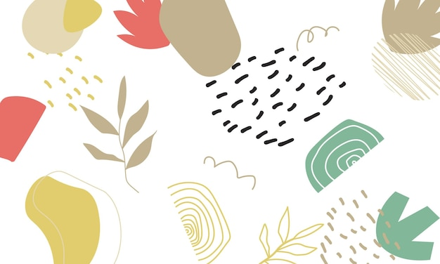 Abstracte trendy zee bloemen achtergrond. het beste ontwerp voor uw bedrijf.
