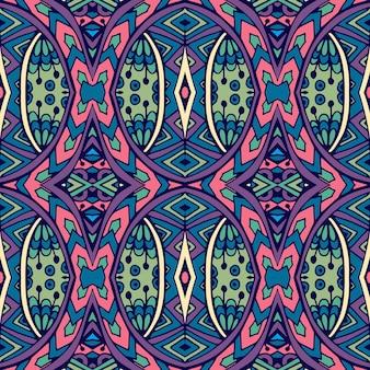 Abstracte tribal vintage etnische naadloze patroon sier