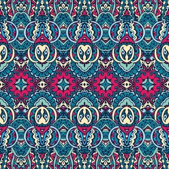 Abstracte tribal vintage indiase textiel etnische naadloze patroon sier.