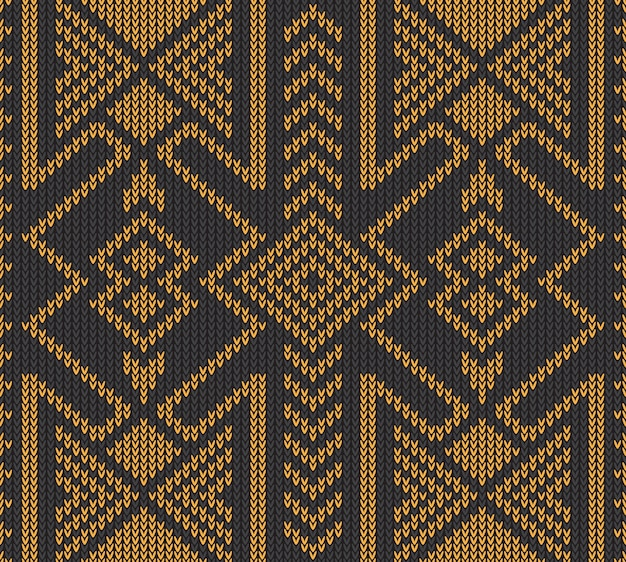 Abstracte tribale azteekse naadloze patroon