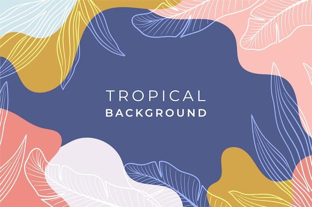 Abstracte tropische achtergrond
