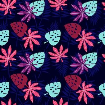 Abstracte tropische blad patroon achtergrond