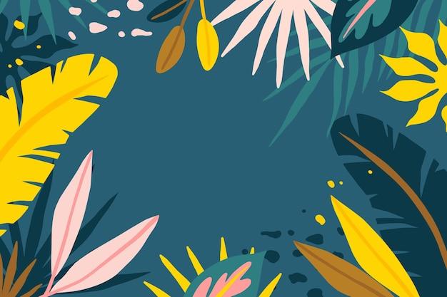 Abstracte tropische bladeren achtergrond