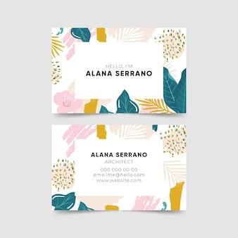 Abstracte tropische visitekaartjes
