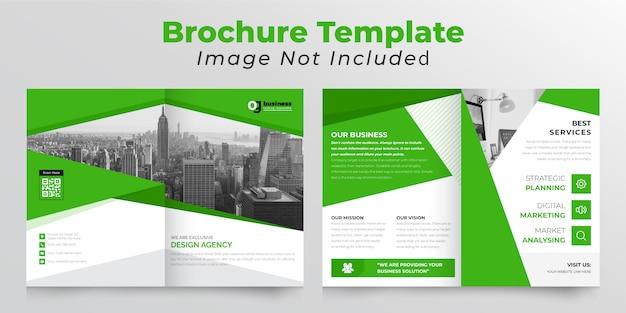 Abstracte tweevoudige bedrijfsbrochure