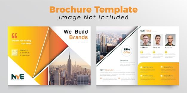 Abstracte tweevoudige brochure sjabloon